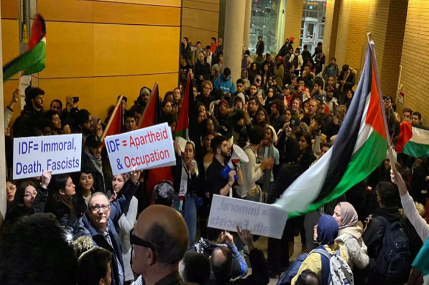 """BDS and Antifa Bigots Shout """"Back to the Ovens"""" at Toronto's York U"""