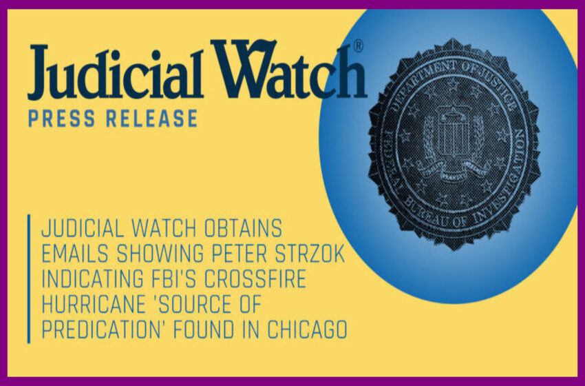 Judicial Watch: Strzok Email – Hillary Clinton Apologized to FBI Over Emails – But Apology Was 'Not In' FBI 302 Documenting Her Interview