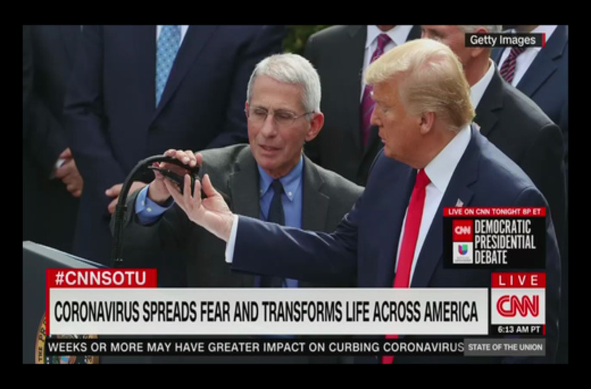 Dr. Fauci Tells CNN to 'Get Real' With Their Microphone Freak Out