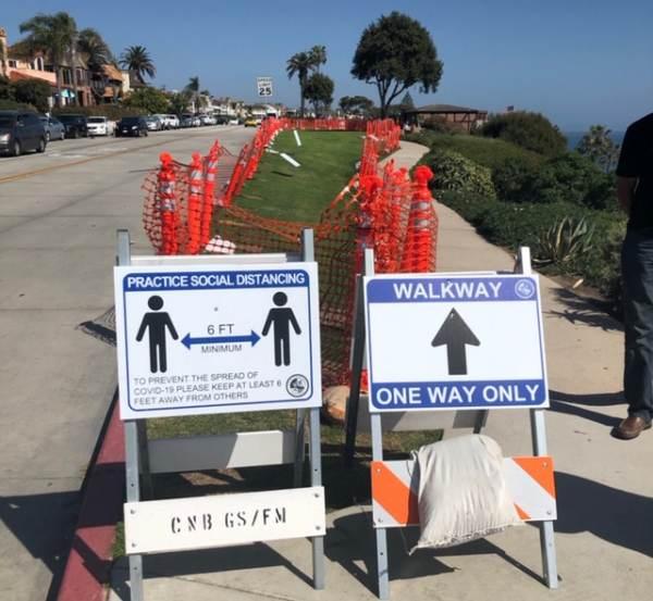 Crazed Democrat Governor Gavin Newsom Closes Parks, Including Slivers of Grass Near Orange County Beaches