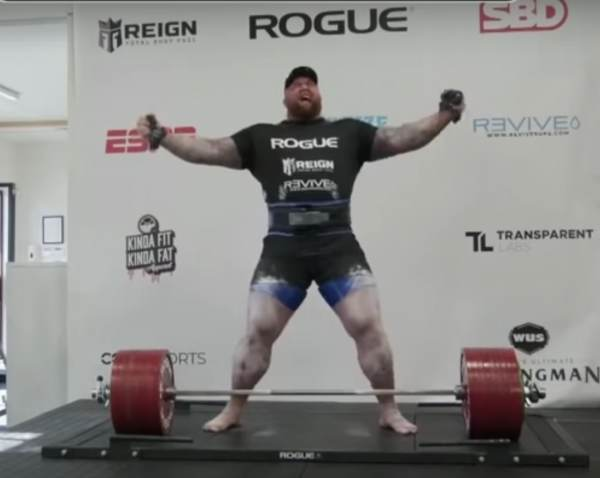 """World's Strongest Man and 'Game of Thrones' Actor Nicknamed """"The Mountain"""" Break's World Record Lifting More than 1,100 Pounds!"""