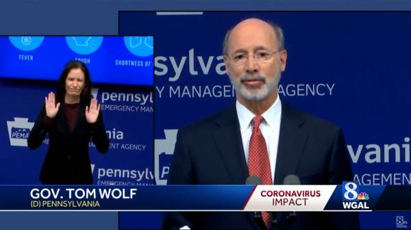 Pennsylvania Governor Wolf Threatens To Pull Funding From Counties That Re-Open Against His Orders