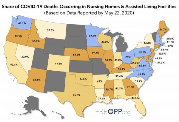 UPDATE: Study Finds Just 1.8% of US Population is in Nursing Homes But Tallied Over 42% of All US COVID-19 Deaths — or Over 40,000 Deaths!