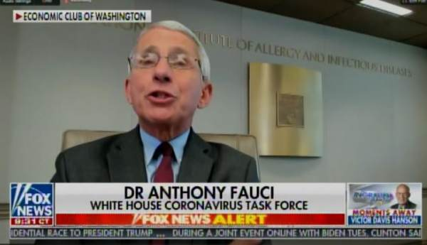 Fauci Emails NY Times Reporter With Warning of 'Needless Suffering and Death' in Opening Country 'Prematurely'
