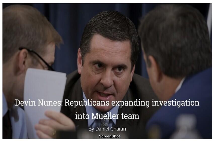 Devin Nunes: Republicans expanding investigation into Mueller team