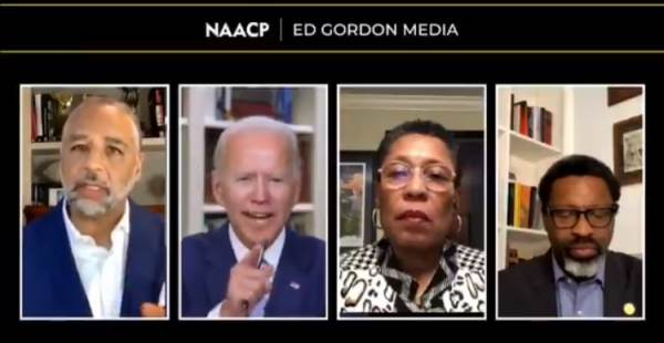 Biden Loses it During NAACP Virtual Town Hall When He's Told Some Young People Don't Like Him (VIDEO)