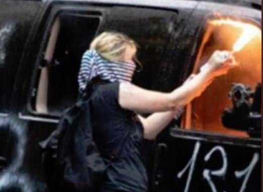 Angry Antifa Girl Arrested in Seattle After Lighting 5 Seattle Police Vehicles on Fire During Black Lives Matter Riots