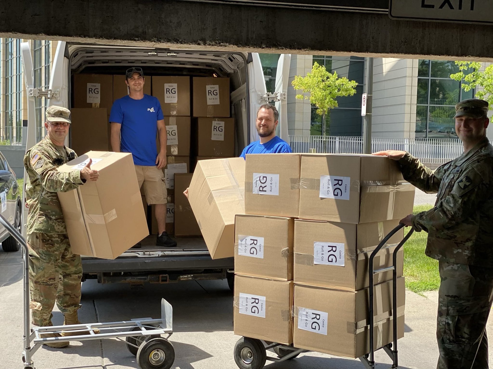 Mike Lindell Donates MyPillows to National Guard Members Sleeping on the Floor in Twin Cities