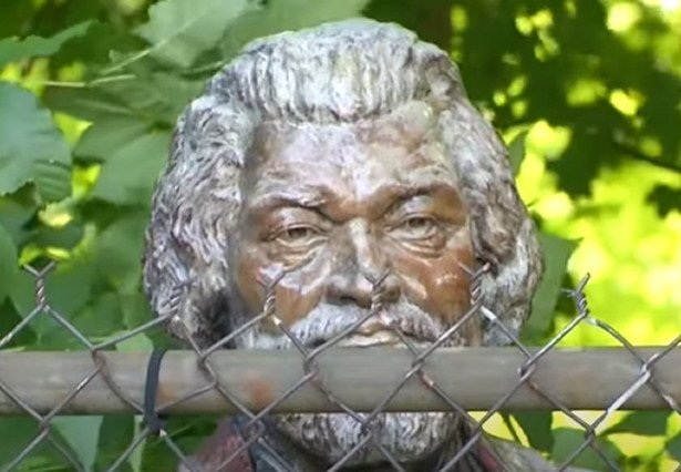 Statue Of Famous Abolitionist Frederick Douglass Vandalized In New York