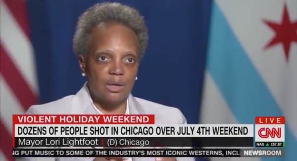 Chicago Mayor Lori Lightfoot Blames Coronavirus for Her City's Rising Murder Rate After Dozens of People Shot Over 4th of July Weekend (VIDEO)