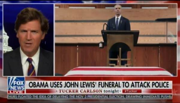 """One of the Sleaziest and Most Dishonest Figures in History of American Politics"" – Tucker Carlson Goes Off on Obama After He Compares US Police to Racist Democrat Bull Connor"