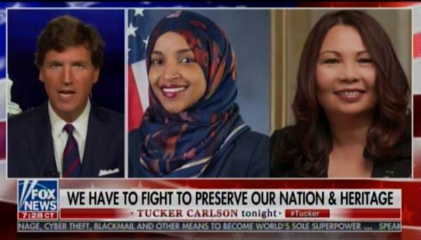 """Duckworth is Too Afraid to Defend Her Own Statements"" – Boom! Tucker Carlson Goes After ""Coward"" Tammy Duckworth and Ilhan Omar (VIDEO)"