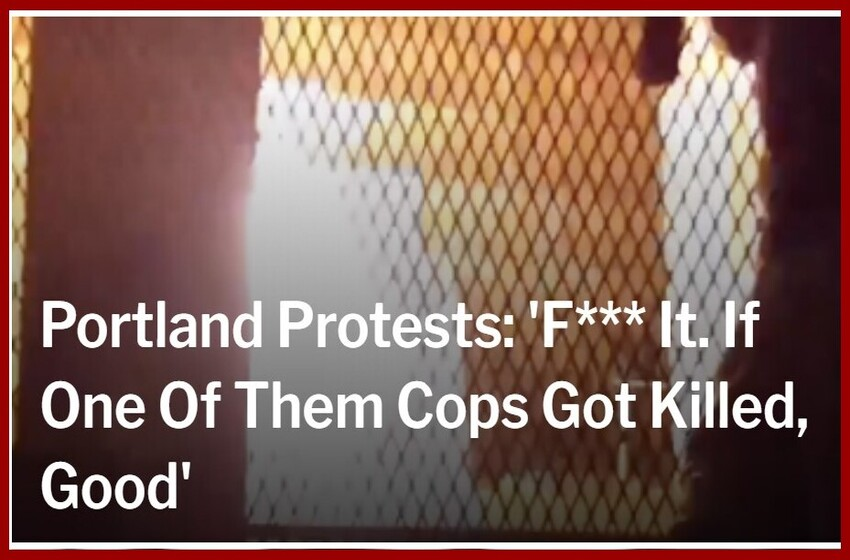 Portland Protests: 'F*** It. If One Of Them Cops Got Killed, Good'