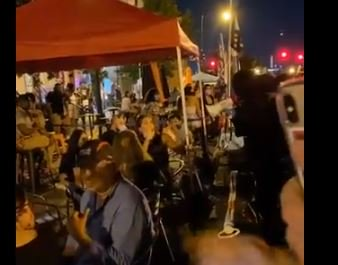 Black Lives Matter Mob Harasses Diners at Outside DC Restaurants — Blares Bullhorns in Their Faces