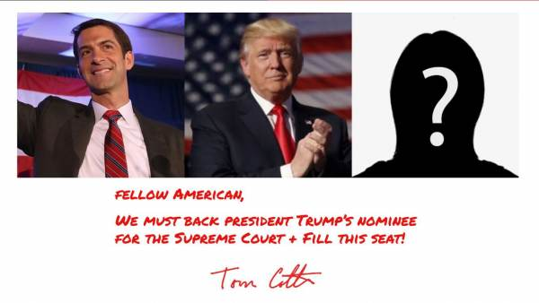 VIDEO: Sen. Tom Cotton Sets up War Room to Fight Back Against Toxic Left During SCOTUS Nomination Process