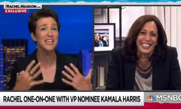 Maddow and Harris Cannot Contain Their Cackling as the VP Hopeful Admits She Saw Fly on Pence During Debate (VIDEO)