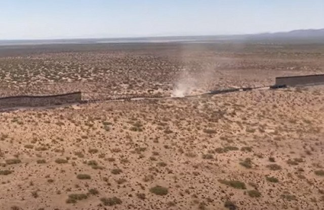 Stunning Video Shows The Difference Between The Old Border Barrier And The New Border Wall