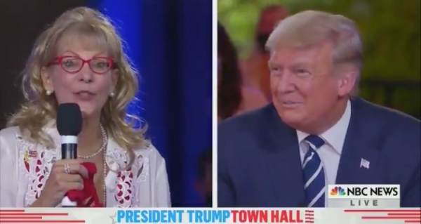 """You're So Handsome When You Smile"" – Town Hall Questioner's Compliment Leaves President Trump Blushing (VIDEO)"