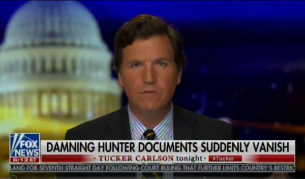 BREAKING: Tucker Carlson Tells Viewers a Package with Biden Documents Sent By Producer from NY to LA Was Tampered with and Contents Went Missing (VIDEO)