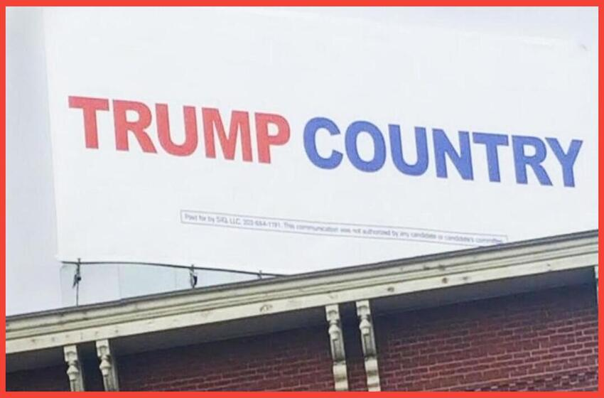 'Free speech just got thrown out the window': Pro-Trump billboard removed days before election