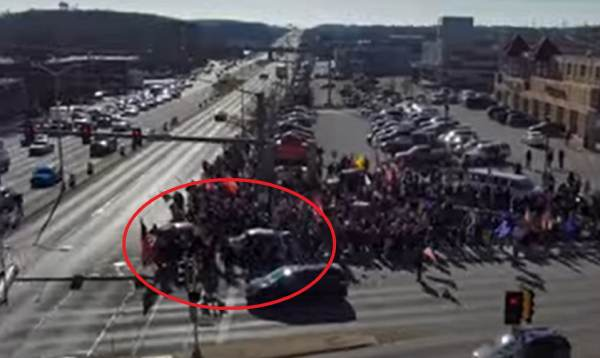WATCH: Drone Footage Captured Moment Biden Supporter Rammed Vehicle Into Trump Rally in Wauwatosa