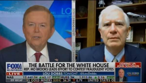 Rep. Mo Brooks Will Join FOX and Friends in AM to Discuss Growing Effort to Reject Fraudulent Election Results