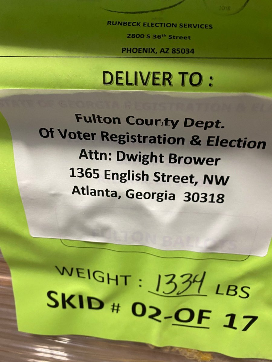 EXCLUSIVE: Fraudulent Georgia Ballots Were Addressed to Elections Consultant Dwight Brower – The Same Guy Who Reported the Fake Water Main Break and Then Terminated Election Whistleblower