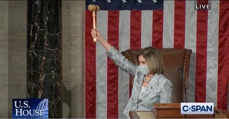 Pelosi Narrowly Reelected to Another Term as Speaker of the House