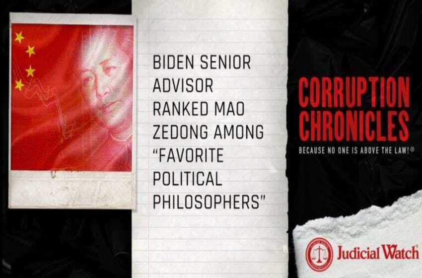 "Biden Senior Advisor Ranked Mao Zedong Among ""Favorite Political Philosophers"""