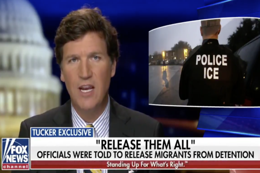 'Release them all, immediately': Tucker Carlson reveals email sent to ICE officials after Biden's deportation halt