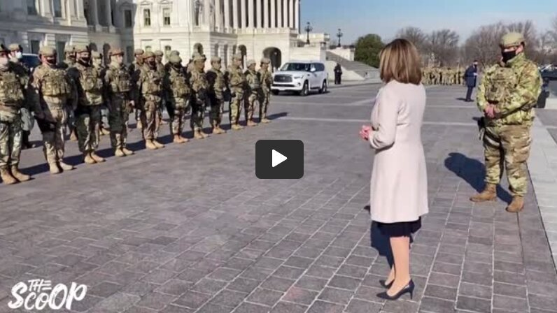 STUNNING HYPOCRISY: Demon Nancy Pelosi Cheers National Guard Troops in DC Today After She Attacked Trump For Sending in National Guard During DC BLM Riots