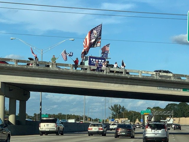 Crowds in West Palm Beach Are Already Preparing for President Trump's Arrival Tomorrow
