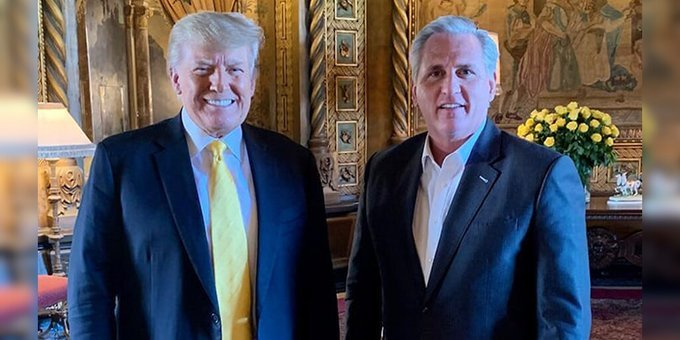 Kevin McCarthy Meets with President Trump a Week after Throwing Him Under the Bus and Blaming Him for US Capitol Riots