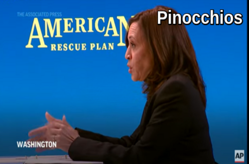 WashPost 'Fact Checker' Only Nudges Kamala with '2 Pinocchios' for Wild Vaccine Claims