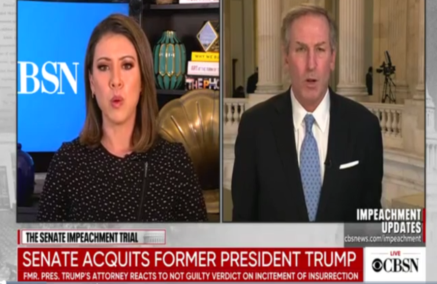 Trump impeachment lawyer unleashes on 'bloodthirsty' media 'trying to divide this country' during live interview