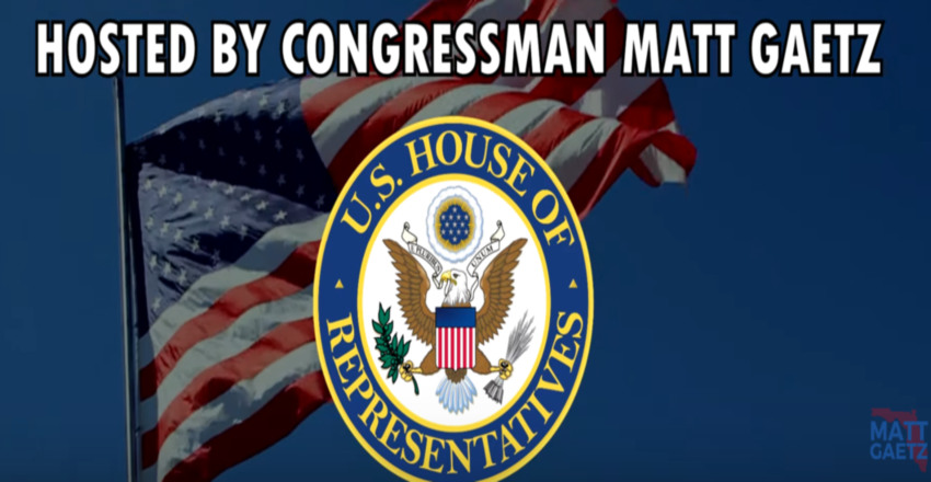 Congressman Matt Gaetz  to host- NAS Whiting Field Update