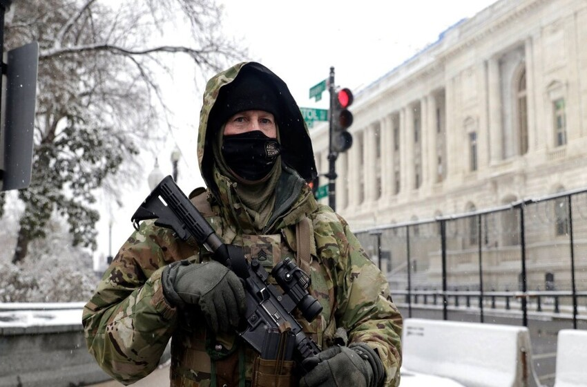 Despite unclear threat, National Guard protects Capitol in snowy conditions