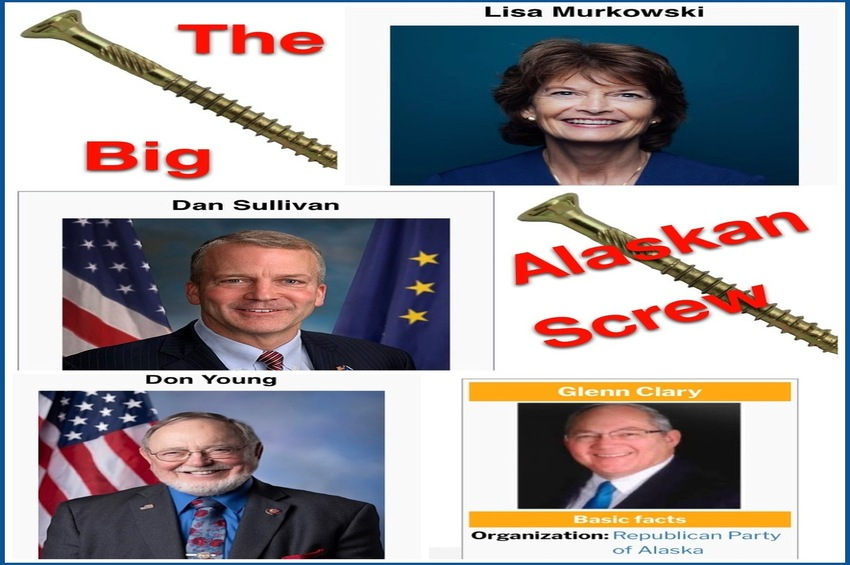 Murkowski, Sullivan and Young Screw Their Alaskan Constituents