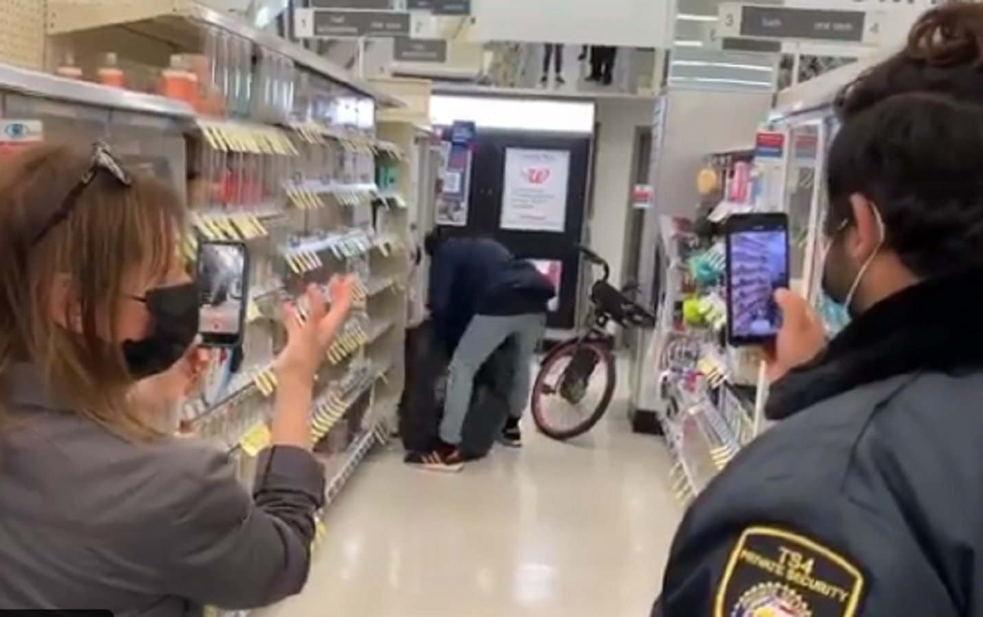 SHOCKING VIDEO: Thief Rides Bike Into San Francisco Walgreens, Fills Trash Bag With Goods — Security Watches and Films
