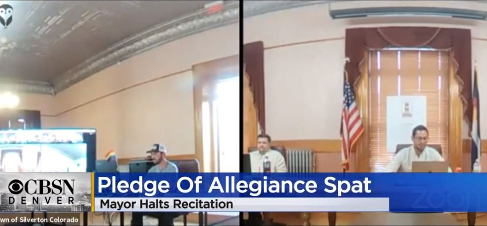 Colorado Mayor Bans Pledge Of Allegiance At Board Meetings — Gets Triggered After Members Recite It Anyway, Threatens To Remove Them (VIDEO)