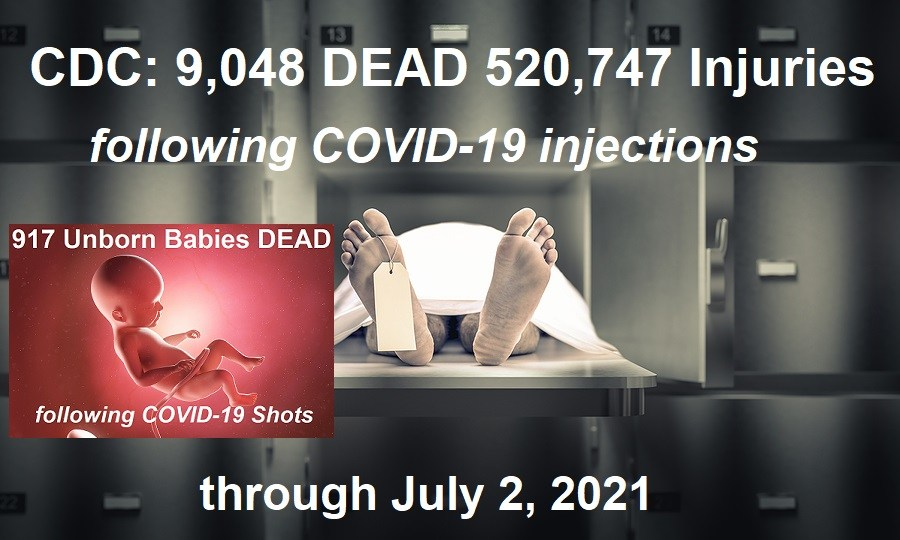 CDC Adds Over 2000 Deaths Associated with COVID-19 Shots in One Week – 917 Unborn Baby Deaths