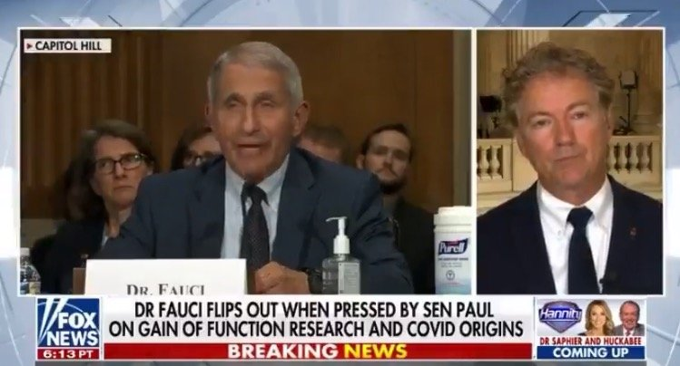 """Rand Paul: """"I Will be Sending a Letter to the Department of Justice Asking For a Criminal Referral"""" Into Fauci (VIDEO)"""