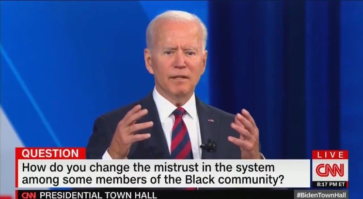 """Biden Flirts with Man's Wife, Rambles About """"A Man on the Moon"""" and """"Aliens"""" When Asked About Vaccine Hesitancy in the Black Community (VIDEO)"""
