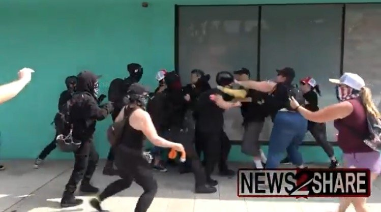 """Antifa Goons Get Beat Up at """"We Are Israel"""" Rally In SoCal (VIDEO)"""