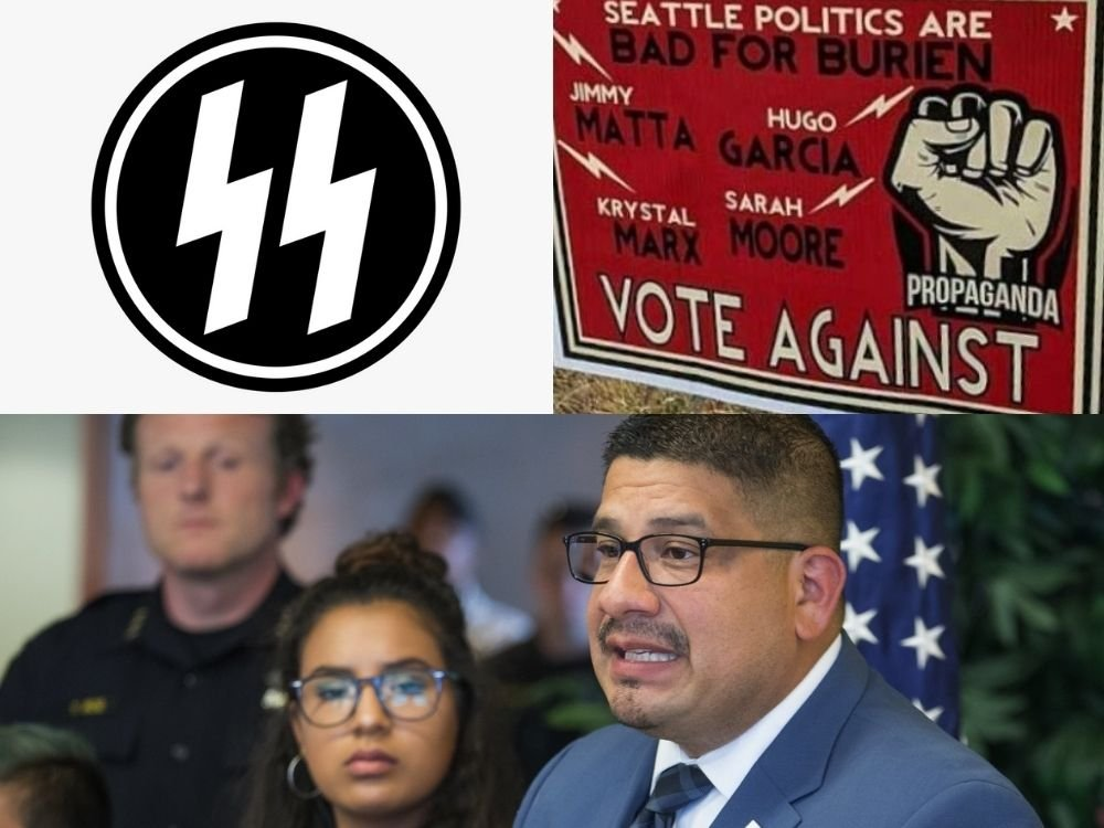 Washington Mayor Ridiculously Claims He Was Victim of 'Hate Crime' Because of Lightning Bolts on Yard Sign