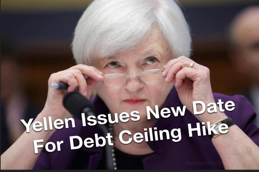 Breaking – Yellen Issues New Deadline for Debt Ceiling Hike