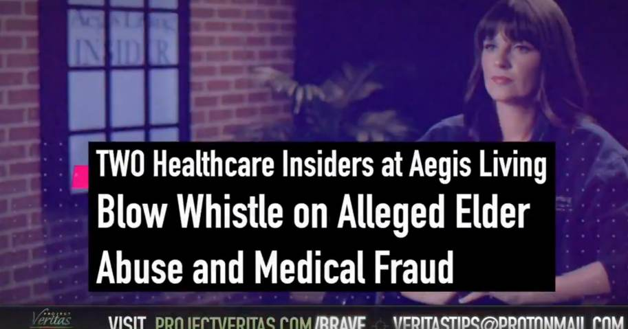 Project Veritas Strikes Again: Washington Nursing Home Comes Under Fire After Whistleblowers Allege Horrible Elder Abuse and Rampant Fraud (Video)
