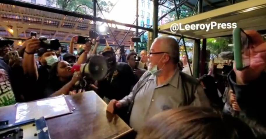 """Large Group of BLM Activists Protest NYC Vaccine Mandate; Chant """"Cancel Carmine's"""" After Brawl at Popular Restaurant Over Vax Card (Video)"""