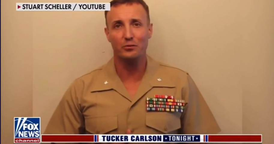 """""""This is Wrong and It Will Not Stand:"""" Lt. Col. Scheller's Attorney Joins Tucker Carlson to Discuss His Political Imprisonment For Speaking Out Against Biden's Afghanistan Debacle; Marine's Father Also Issues Statement – (Video)"""