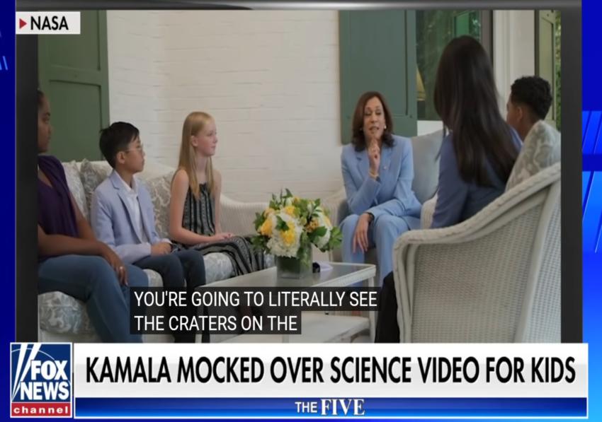 'The Five' rip Kamala Harris' CRINGEWORTHY science video with PAID ACTORS KIDS !